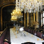 20a) Inside the main dining hall of Napoleon's apartment.