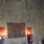 23a) A picture of the Minstrel's Room in Chateau de Puivert.  The orb is in the upper right corner.
