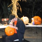 42) Notice the orb right on the hand of this pumpkin carver.