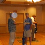 7c) The orbs started to appear after the people attending the conference emerged from their workshops.